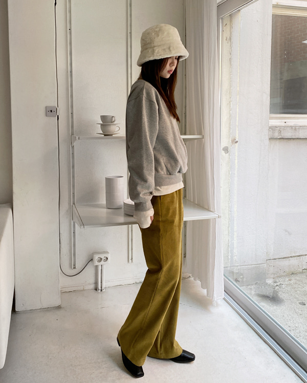 dying corduroy wide pants (s, m)