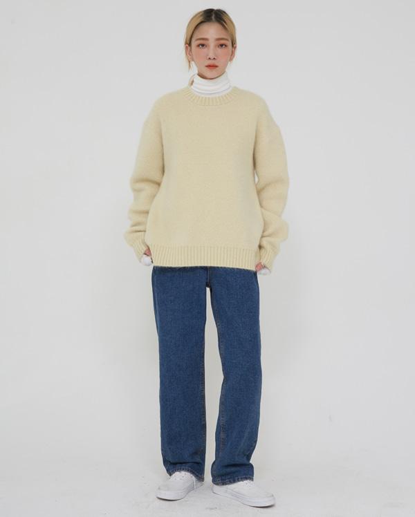 ment straight denim pants (s, m, l)