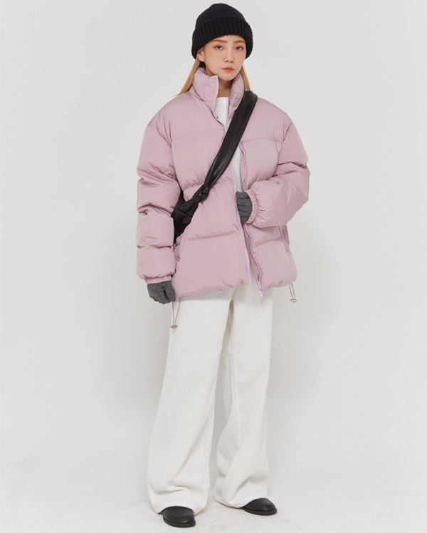 colorful minimal padding jumper