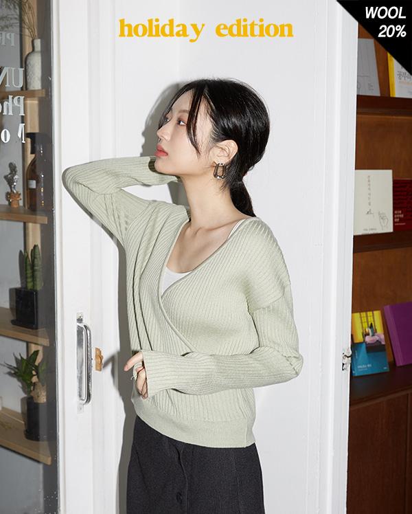 amel wool wrap knit