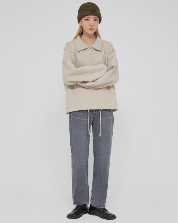 gray wasing denim pants (s, m, l)