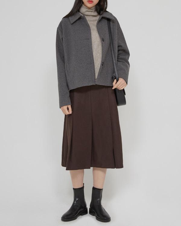 feminine midi pleats skirts  (s, m)