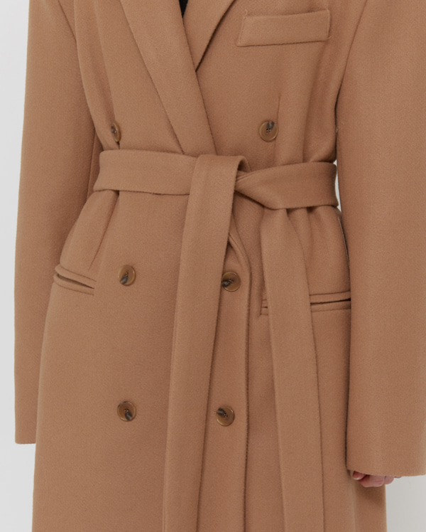 senu strap double long coat