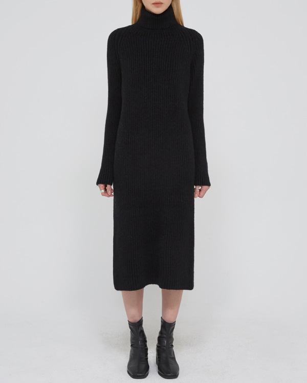 a turtleneck long knit ops