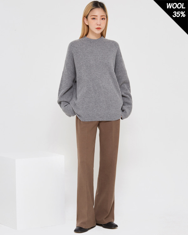 thing wool half neck knit