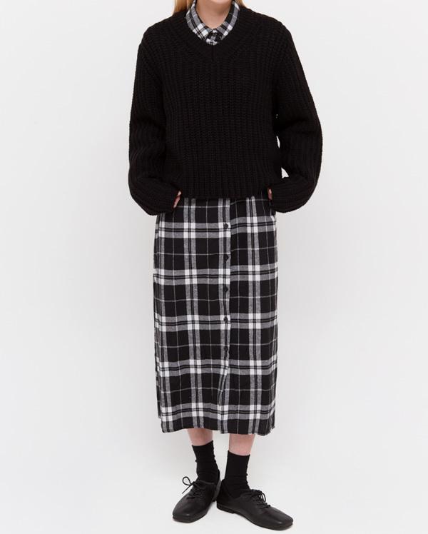dore v-neck short knit