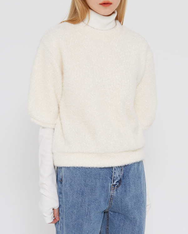 rozy pompom knit T
