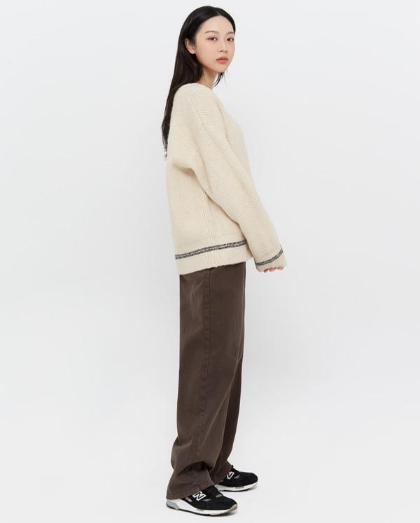 tom wide cotton pants (s, m)