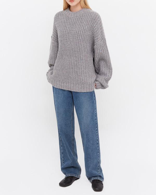 looks straight denim pants (s, m)