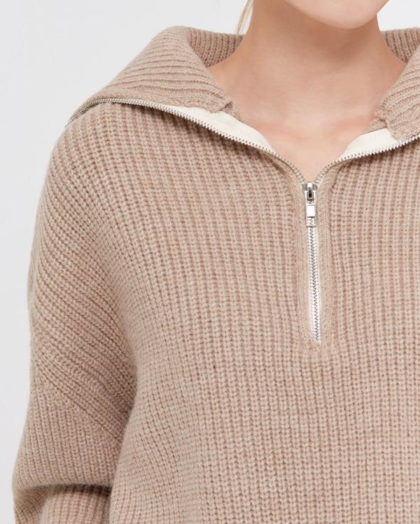 wish land zip-up knit