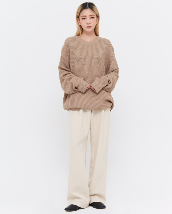 nore loose fit round knit