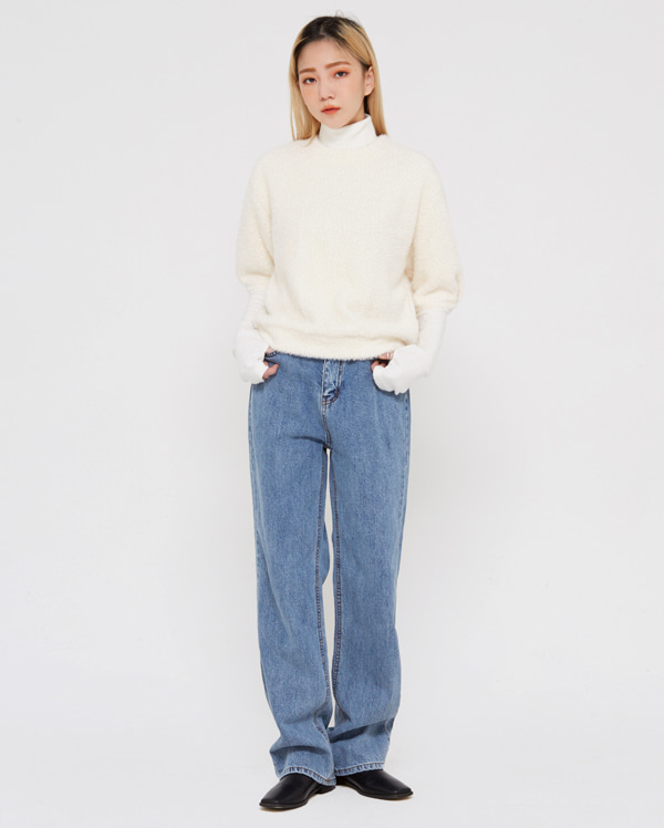 stay blue denim pants (s, m, l)