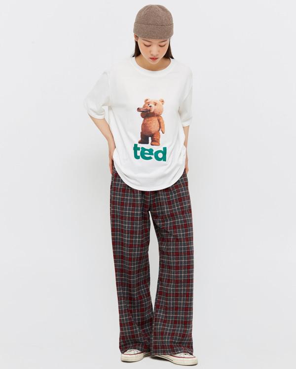 on teddy short sleeved T
