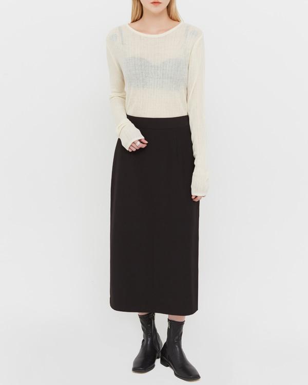 mode slit midi skirt (s, m)