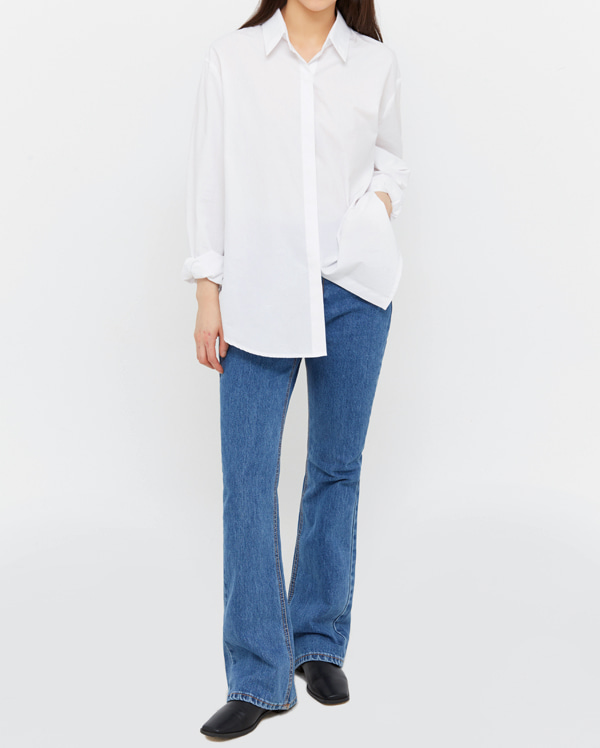 in boots cut denim pants (s, m, l)