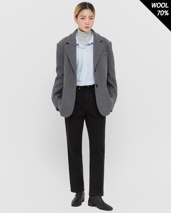 dan two button wool jacket