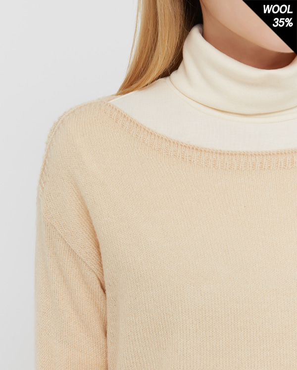 cape boat neck knit