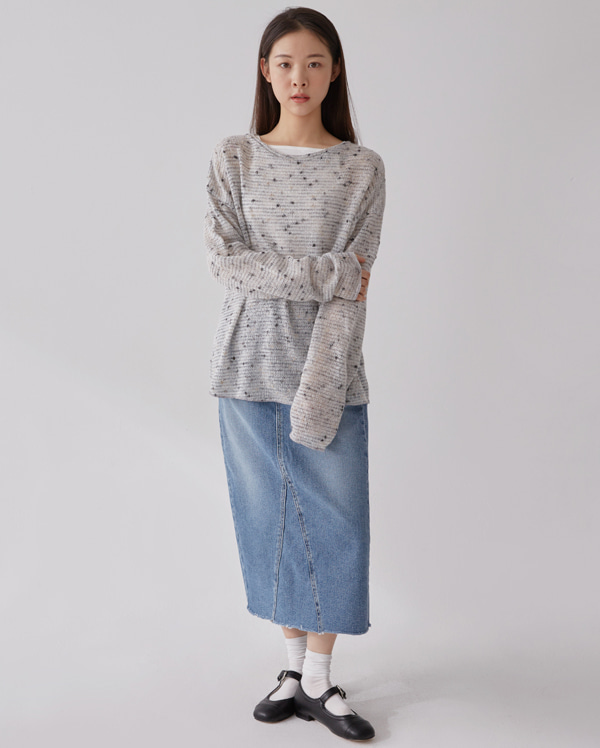 beat layer round knit
