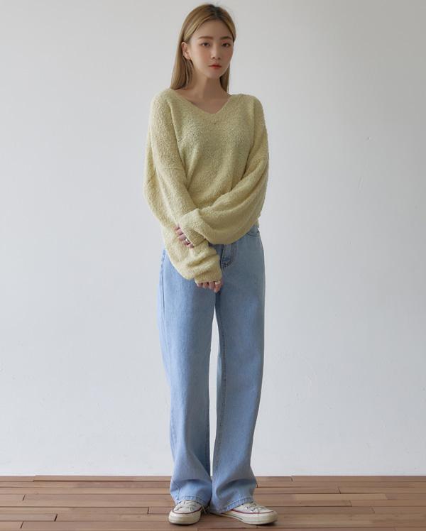 coco bookle v-neck knit