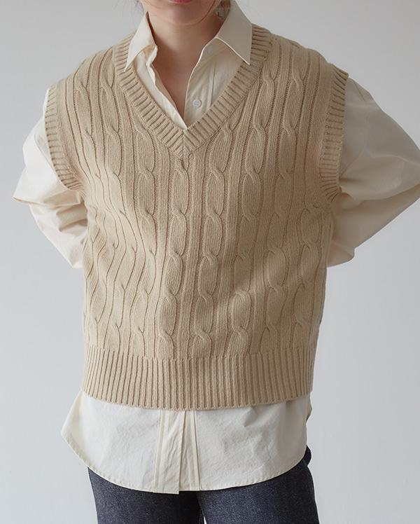 bitter v-neck knit vest