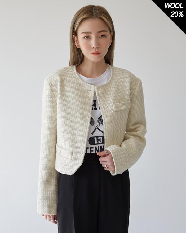 roden tweed crop jakcet