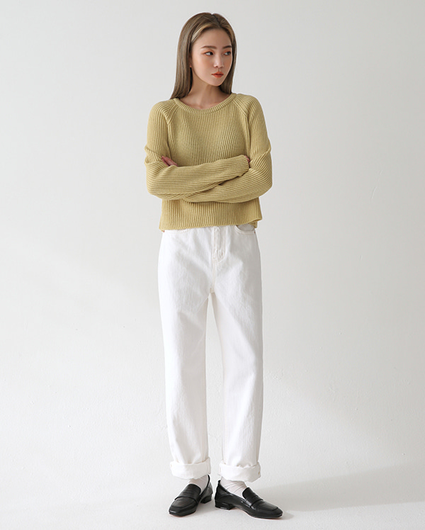 told straight cotton pants (s, m, l)