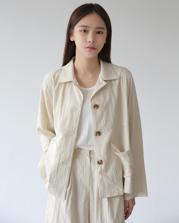 메이 무드 싱글 자켓 (2color)