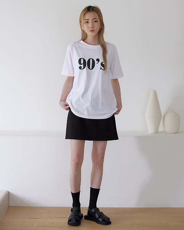 넘버링 반팔 티셔츠 (2color)