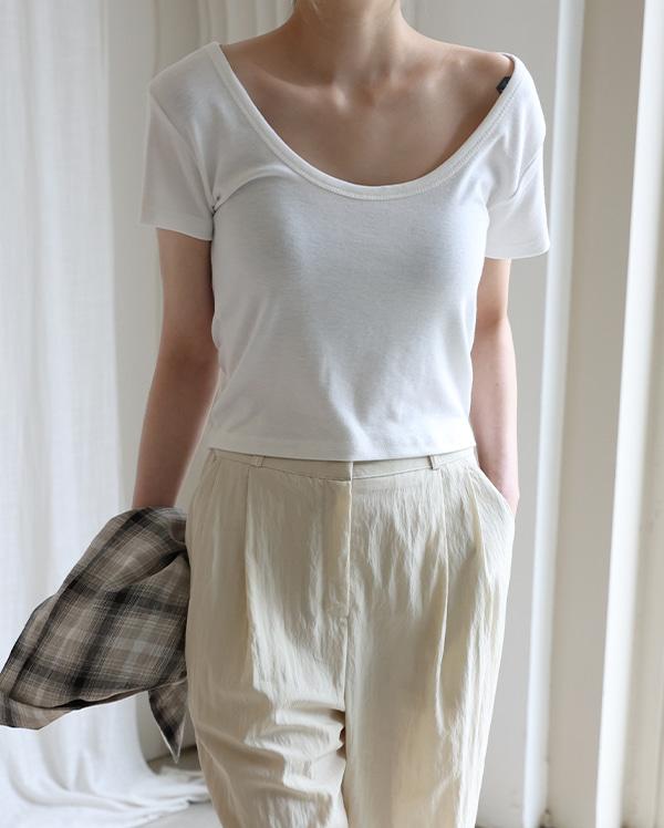 킨더스 유넥 반팔 티셔츠 (4color)