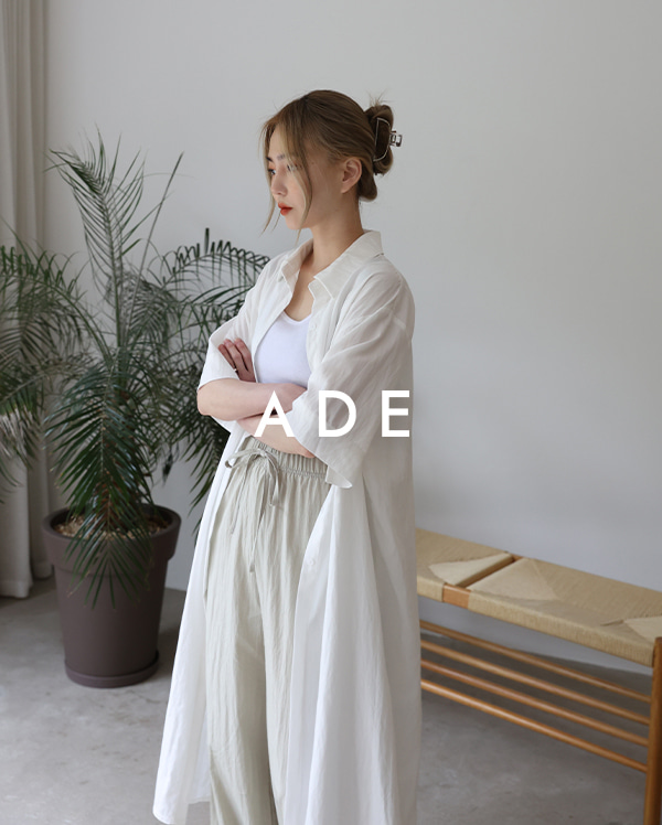 레이어드 셔츠 원피스 (3color)
