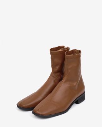 vert sleek leather ankle boots (230-250)