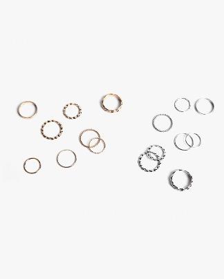 twist and round ring set
