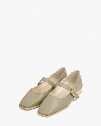 june square buckle loafer (225-250)