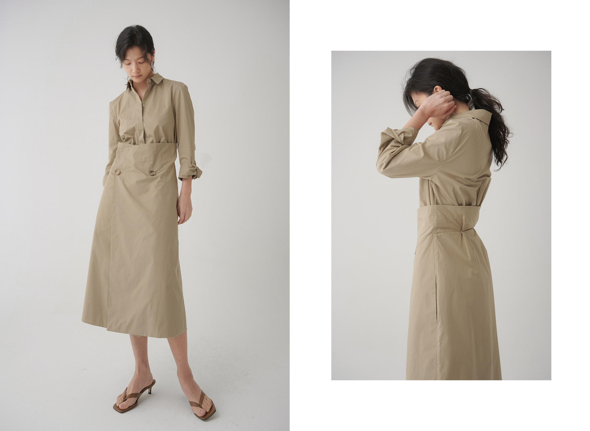 Vanessa Wrap Shirt Dress