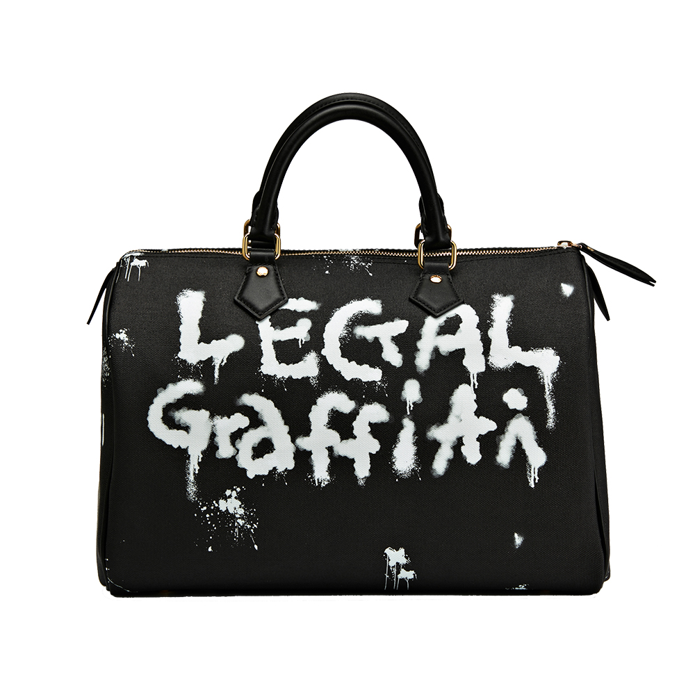 Black Graffiti Tote Bag