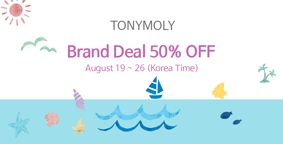 [TONYMOLY] BRAND DEAL 50% OFF