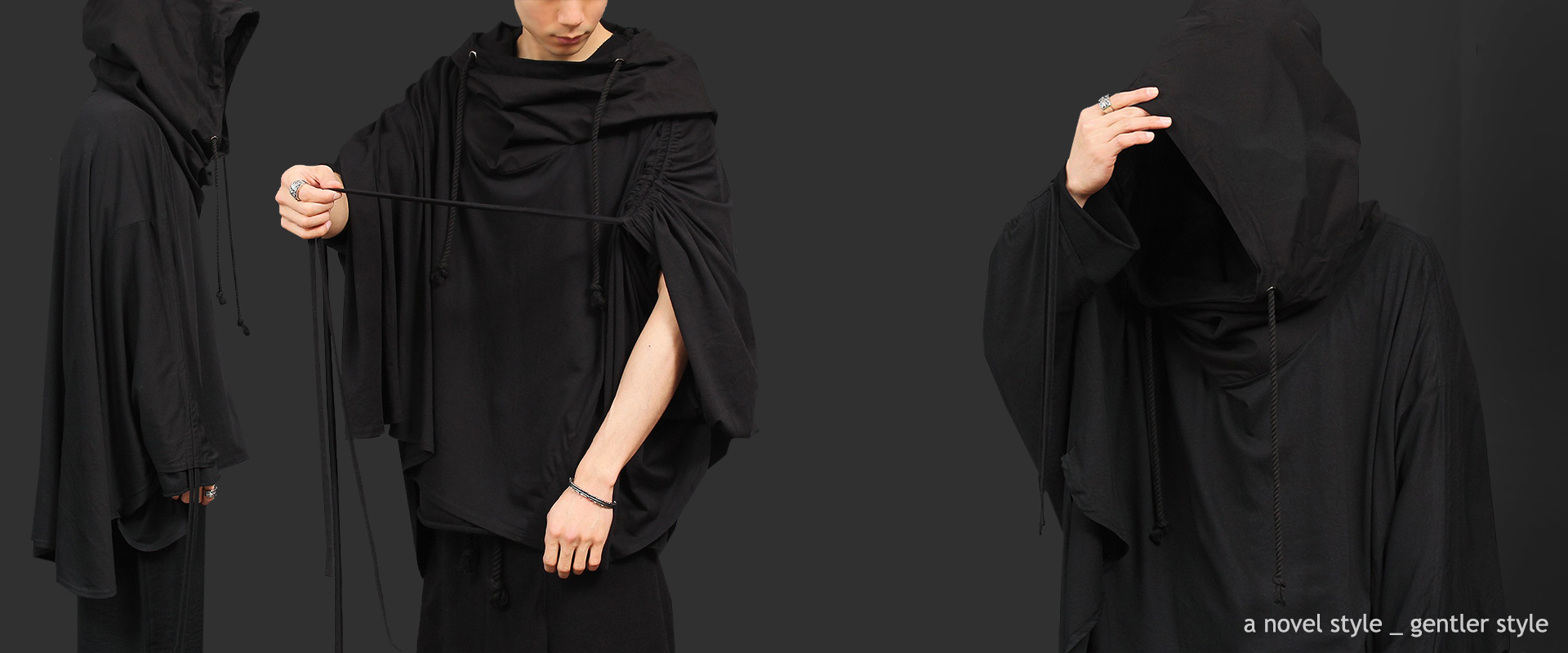 Avantgarde Big Over Hooded Poncho Cape 007