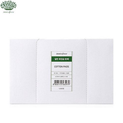 INNISFREE Cosmetic Cotton Pads 1.0 80ea,INNISFREE