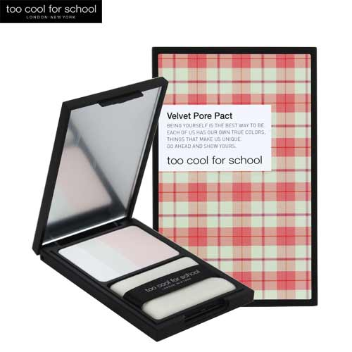 TOO COOL FOR SCHOOL Check Velvet Pore Pact 7g,TOO COOL FOR SCHOOL