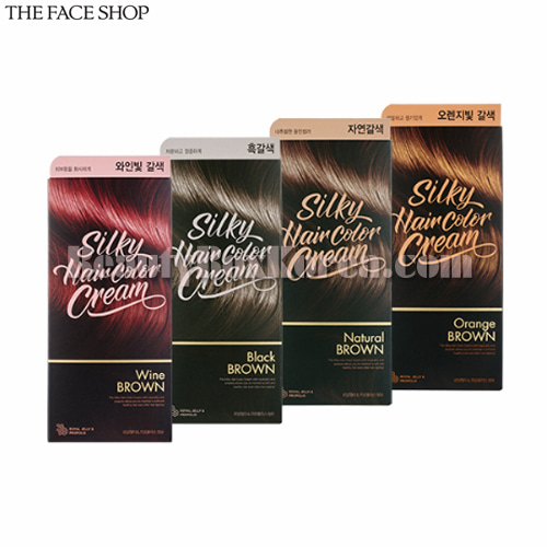 THE FACE SHOP Silky Hair Color Cream 130g,THE FACE SHOP