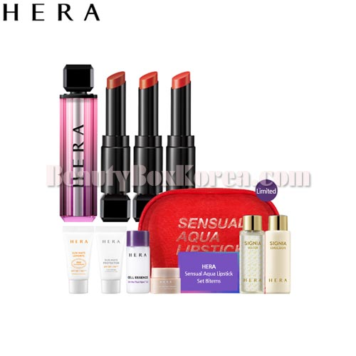 HERA Sensual Aqua Lipstick Set 8items