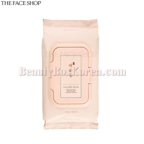 THE FACE SHOP Yehwadam Deep Moisturizing Cleansing Oil Wipes 50ea 306g