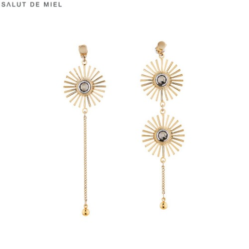 SALUT DE MIEL Double Solar Earrings (SM-18-ACC11) 1pair,Beauty Box Korea