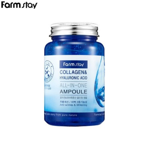 FARM STAY Collagen & Hyaluronic Acid All-In-One Ampoule 250ml