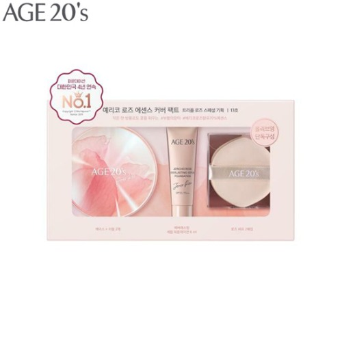 AGE 20'S Jericho Rose Essence Cover Pact Triple Rose Special Set 6items