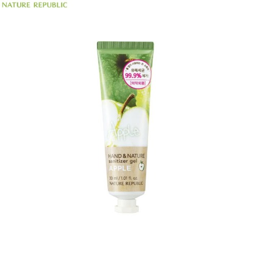NATURE REPUBLIC Hand&Nature Sanitizer gel (Tube) 30ml,Beauty Box Korea