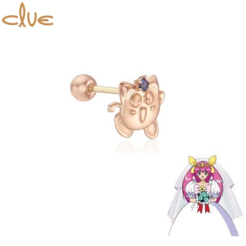 CLUE Cutie Jama-P 10K Gold Piercing (CLE20308T) 1pc [CLUE X Wedding Peach 2nd collaboration]