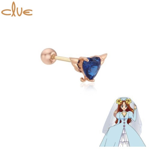 CLUE Lily Something Blue 10K Gold Piercing (CLE20305T) 1pc [CLUE X Wedding Peach 2nd collaboration]