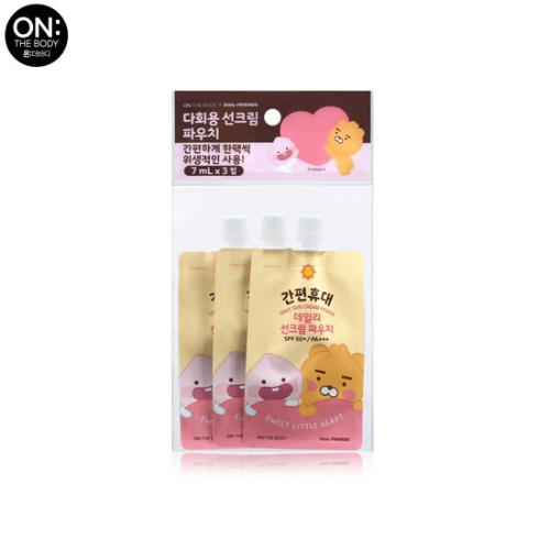 ON THE BODY Daily Sun Cream Pouch SPF50+ PA+++ 7ml*3pcs [ON THE BODY X LITTLE FRIENDS Season 4]
