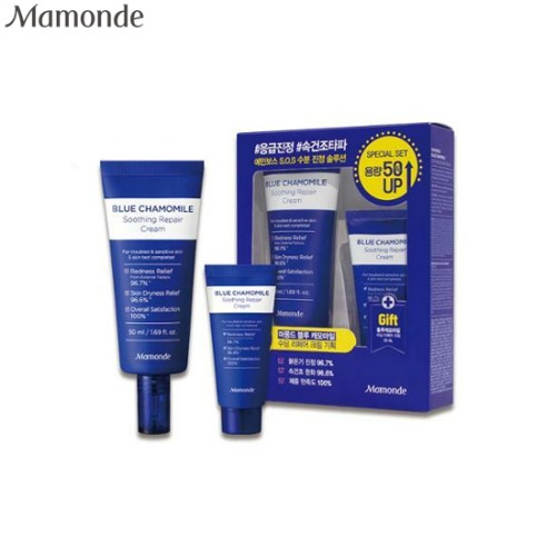 MAMONDE Blue Chamomile Soothing Repair Cream Special Set 2items